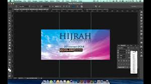 cara membuat desain x banner di photoshop cara design banner bunting bahasa malaysia youtube