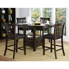 Kitchen Bar Furniture Homesullivan Ryoko 5 Piece Dark Cherry Bar Table Set 402423 36 5pc