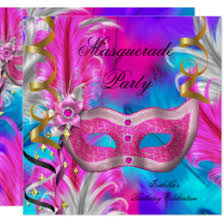pink mardi gras mask pink mardi gras mask invitations announcements zazzle