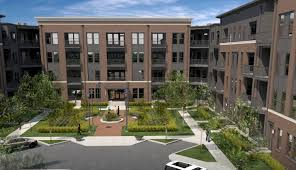 apartment building courtyard interior design