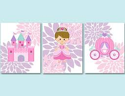 Purple Nursery Wall Decor Princess Décor Princess Wall Pink Purple Princess