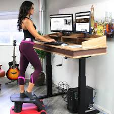 height adjustable sit to stand desk riser for modern offices