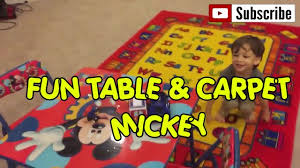 Mickey Mouse Rugs Carpets Disney Mickey Mouse Table And Chairs Toysreview Youtube