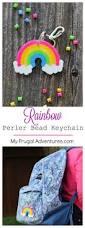 rainbow perler bead keychain rainbow parties perler beads and