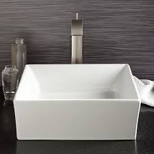 Vessel Bathroom Sink Pop Square Vessel Lavatory From DXV - Basin bathroom sinks