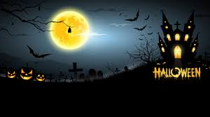 halloween full moon background 1280x720 midnight halloween scary creepy graveyard house