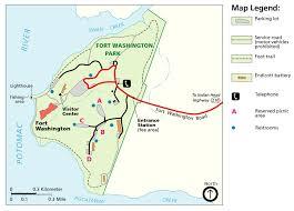 Washington Map by Fort Washington Park Park Map