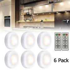 best kitchen cabinet led lighting 6pcs wireless led puck lights closet cabinet lighting kit remote dimmable