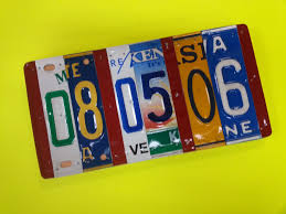 year anniversary gift license plate sign the states 10 year anniversary gift