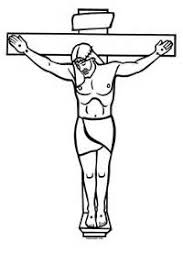 black and white clipart of jesus on the cross collection