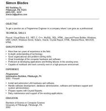 Resume Computer Science Examples Programming Resume Examples Click Here To Download This