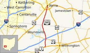 Map Of Southwest Ohio Ohio State Route 380 Wikipedia
