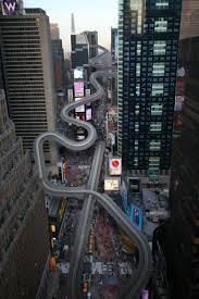 is that a luge in times square the new york times