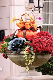 Small Pumpkins Decorating Ideas 57 Cozy Thanksgiving Porch Décor Ideas Digsdigs
