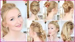 Einfache Frisuren Selber Machen Offene Haare by Einfache Frisuren Ohne Flechten Frisuren Mittellang