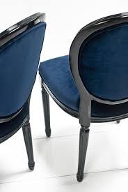 www roomservicestore com louis dining chair in navy and black gloss
