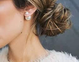 back stud earrings front back earrings etsy