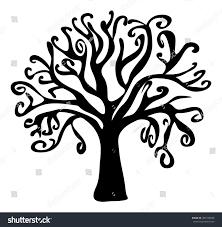 scary halloween white background halloween creepy scary bare tree vector stock vector 487729648