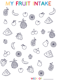 hello wonderful free printable fruit tracker coloring page for