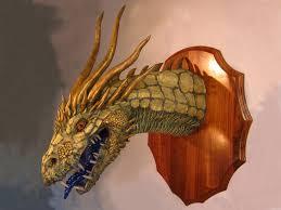 Dinosaur Head Wall Mount Gourmet Paper Mache
