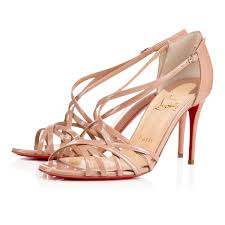 christian louboutin une plume sling leather version white