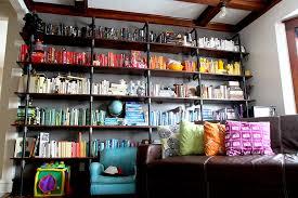 roygbiv pipe bookshelves thenerdnest