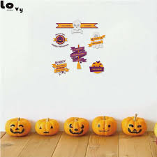 creative happy halloween printed wall stickers funny spider creative happy halloween printed wall stickers funny spider pumpkin bat ghost skull home shop decoration sticker cw0020