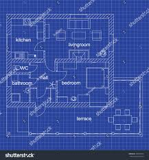 blueprint floor plan modern apartment on stock vector 398832934