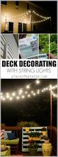 Outdoor Deck String Lighting by Hang String Lights On Your Deck An Easy Way