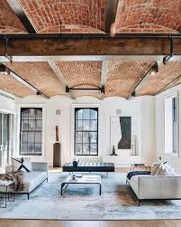 industrial interiors home decor cool architectural details exposed brick ceilings with wood beams