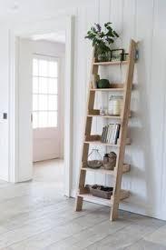 Diy Shelf Leaning Ladder Wall by