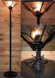 Tiffany Floor Lamp Shades Lighting Black Torchiere Floor Lamp With Bowl Shade Design