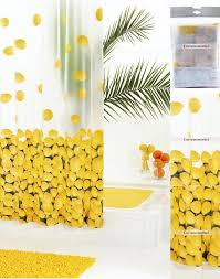 Unique Shower Curtains Fruits Pattern Yellow Unique Shower Curtains