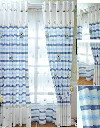 White And Blue Striped Curtains Blue Striped Curtains