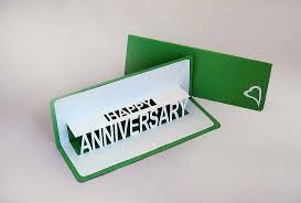 personalised anniversary pop up card by ruth springer design
