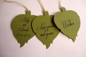 wedding wish tags 50 green leaf wedding wish tree tags fully customizable 2400692