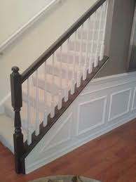painting the chair railing painting stairs stair railing and