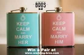 his and flasks keep calm and him custom flasks giveaway contest