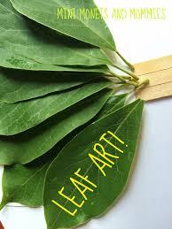 mini monets and mommies kids u0027 nature art make a leaf fan