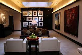 Foyer Ideas For Small Spaces - grey bench table with black sofa using light brown cushions white