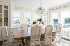 Dining Room Built In French Dining Room With Built In China Cabinet Transitional