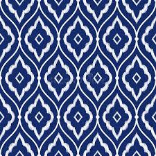 seamless porcelain indigo blue and white vintage persian ikat