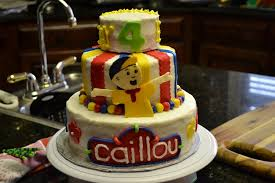 caillou birthday cake 4th birthday caillou cake cakecentral