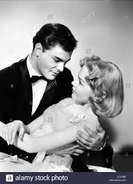 john saxon u0026 sandra dee the reluctant debutante 1958 stock photo