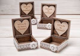 will you be my of honor gift will you be my bridesmaid box bridesmaid box of