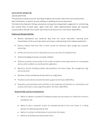 Resume For Data Entry Jobs by Sample Resume Data Entry Job Description Augustais