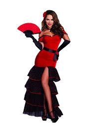 Amazon Com Halloween Costumes Amazon Com Dreamgirl Women U0027s Body Hugging Spanish Dancer