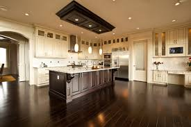 White With Brown Glaze Kitchen by Elegant Contrast Between Glazed White And Dark Stain Traditional
