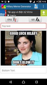Hillary Clinton Meme Generator - hillary clinton meme generator android apps on google play