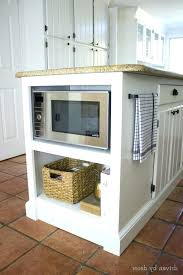 kitchen island with microwave microwave in island kronista co
